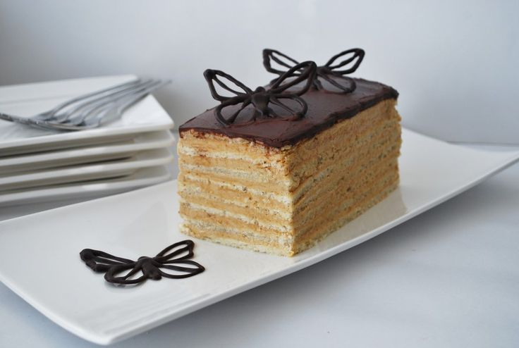 Javanais. A delicious cake  with layers of mocca.