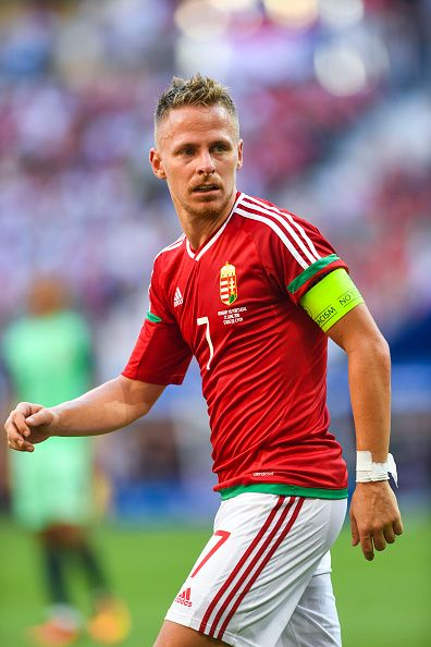 #EURO2016 Balazs DZSUDZSAK of Hungary during the UEFA EURO 2016 Group F match between Hungary and Portugal at Stade des Lumieres on June 22 2016 in Lyon France