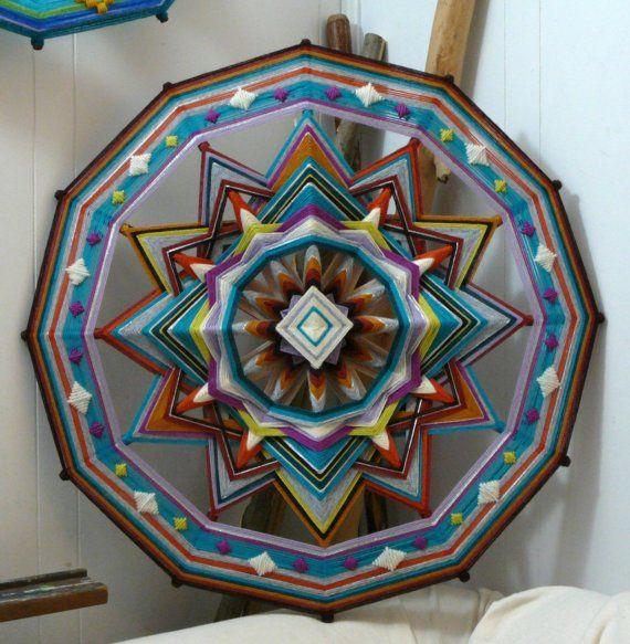 Diamond Sky a 24 inch wool yarn Ojo de Dios by Jay by JaysMandalas