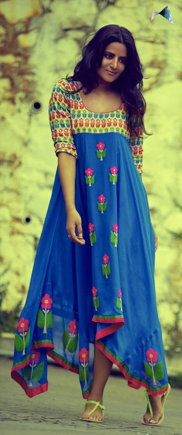 Traditional Indian prints used so beautifully in modern contemporary clothing by designer Divya Anand.