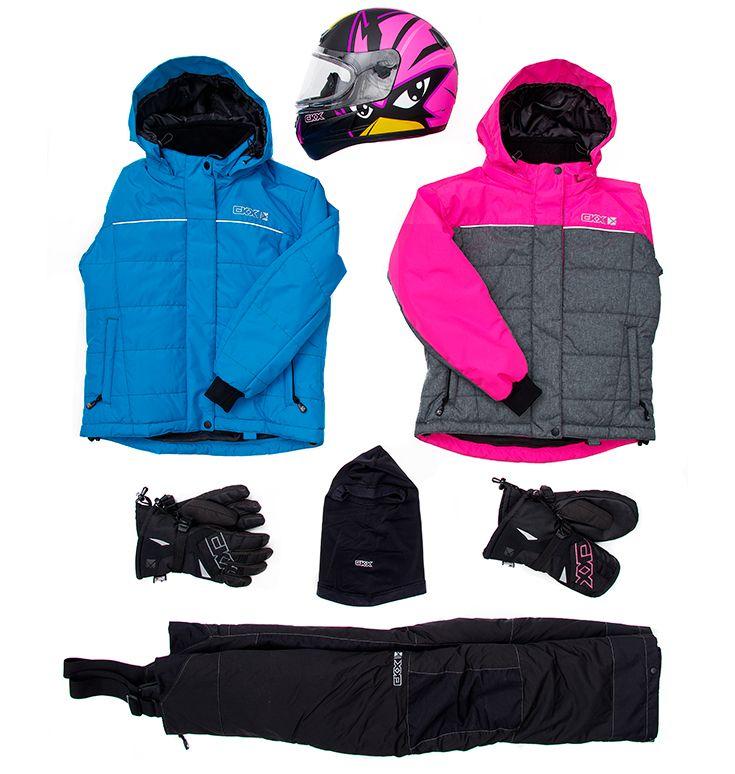 CKX 2016 - Kids Snowmobile Clothing - FROSTY Suit - Raven Helmet - Accessories - ckxgear.com