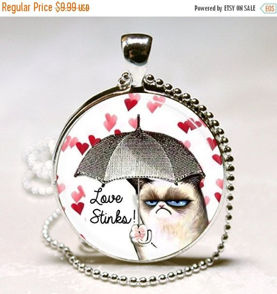sale grumpy cat valentines day gift love by jeanninesjewels - Grumpy Cat Valentine