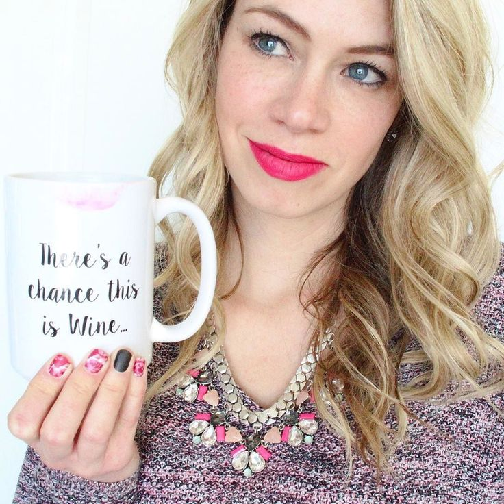 How lovely is @pursuingpretty with our There's a chance this is Wine mug 💕 We are currently sold out but check out our other sassy mugs until this one is restocked.  Shop all things pretty with link in profile. #ShopTTKB #WeDoPretty