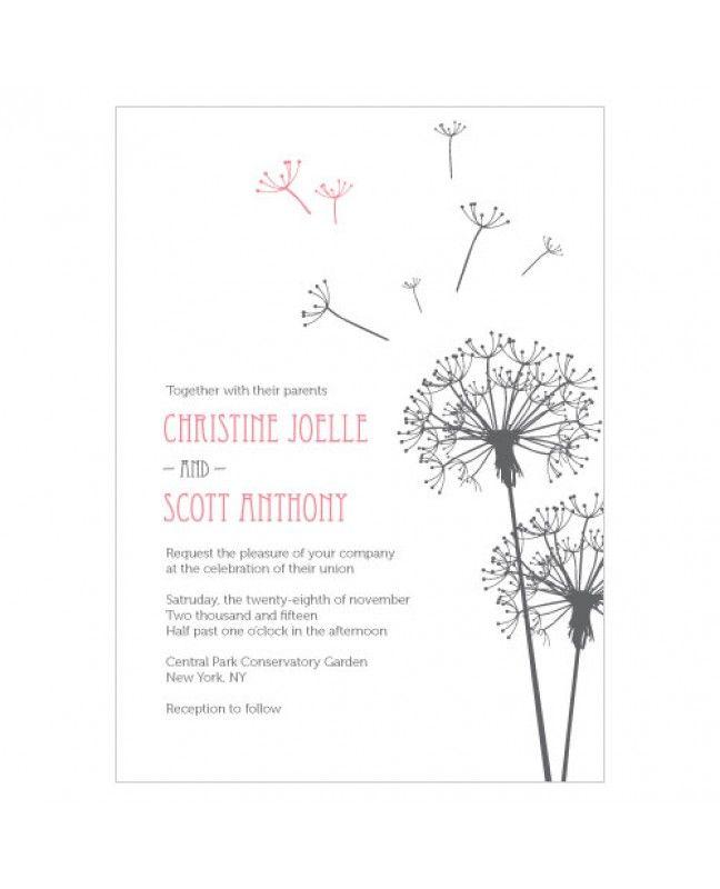 Dandelion Wishes Wedding Invitations www.mybridalsupply.com