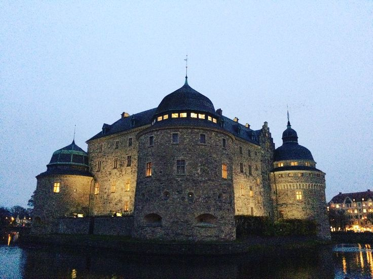 The Castle of Örebro, Sweden, by night.