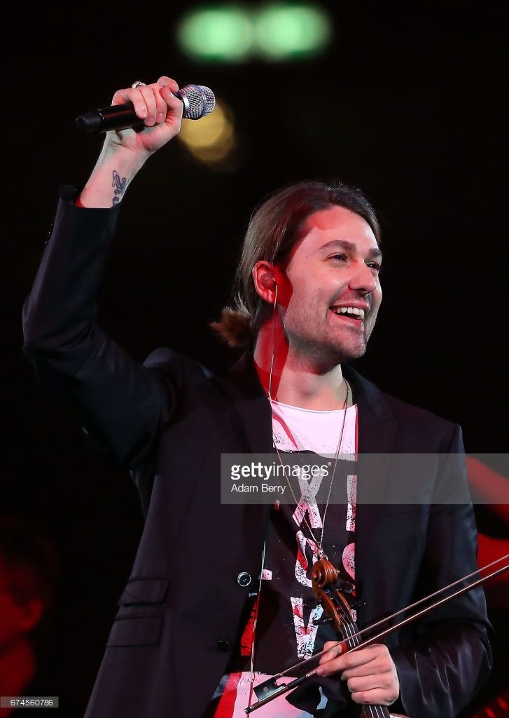 Violinist David Garrett performs at Mercedes-Benz Arena on April 28, 2017 in Berlin, Germany.