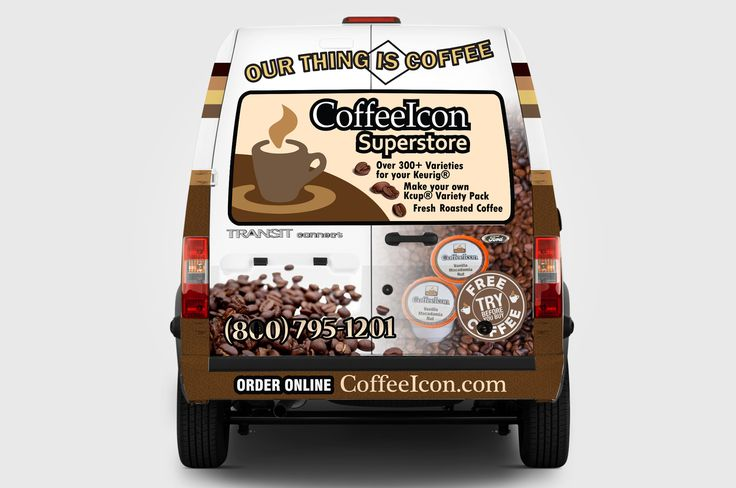 Vehicle Wrap Design for CoffeeIcon Supestore (Back Side)