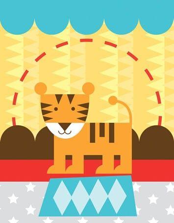 7.  Circus Tricks - Tiger   #Oopsydaisy  #ArtForKids