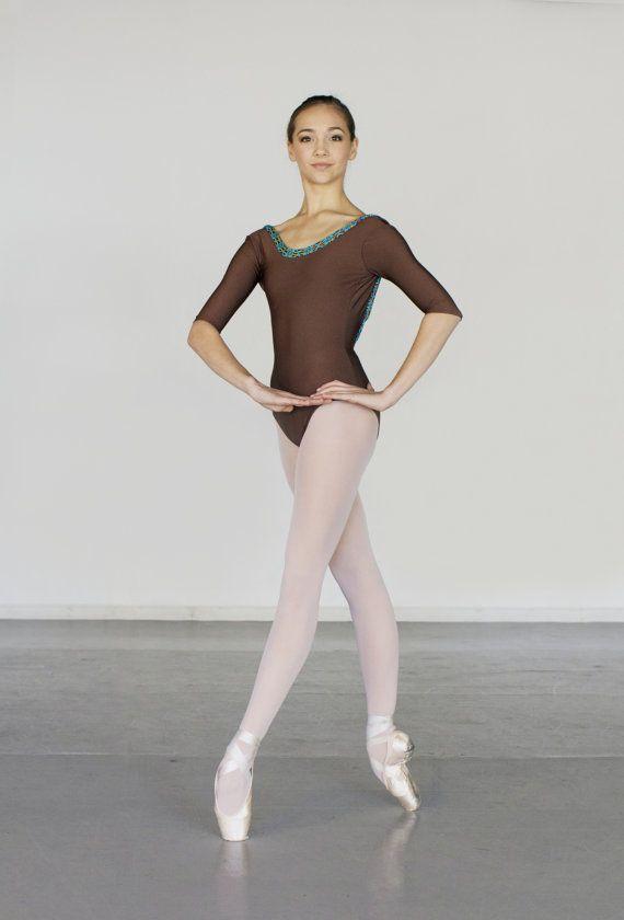 Customizable Ballet Leotard in DREAMCATCHER Style by LuckyleoDancewear modeled by Gisele Bethea