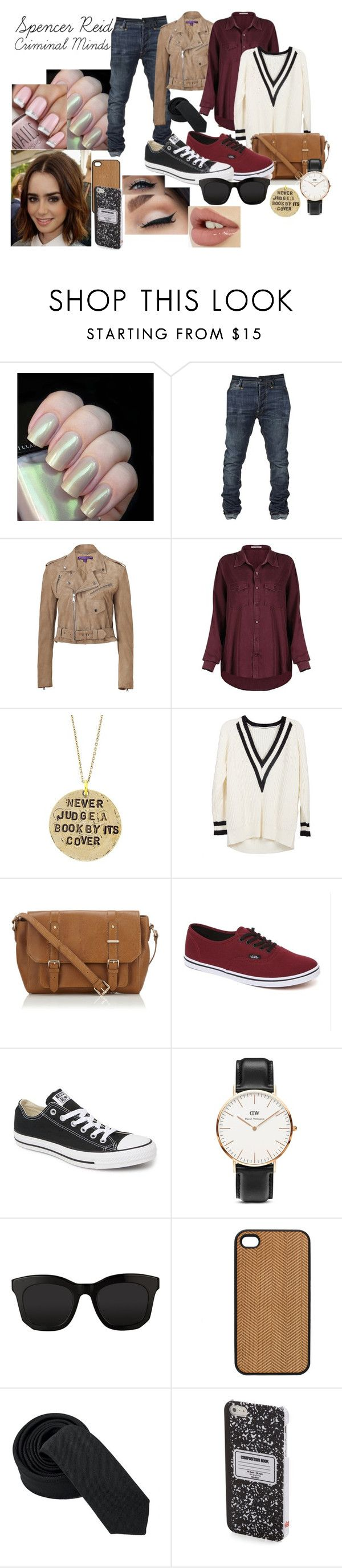 """""""Spencer Reid - Criminal Minds"""" by nerd-inspired ❤ liked on Polyvore featuring Ralph Lauren Collection, Alisa Michelle, Monsoon, Vans, Converse, Daniel Wellington, STELLA McCARTNEY, Terracotta New York and DCI"""