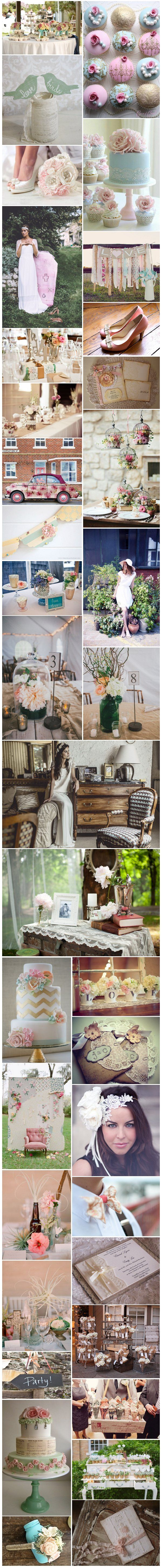 [Inspiration] Mariage Shabby chic