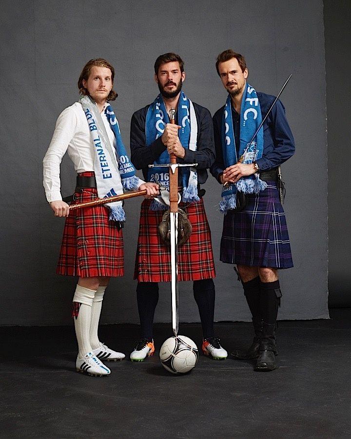 Roger Levesque, Brad Evans and Erik Friberg team up for 'Men in Kilts'   Seattle Sounders FC