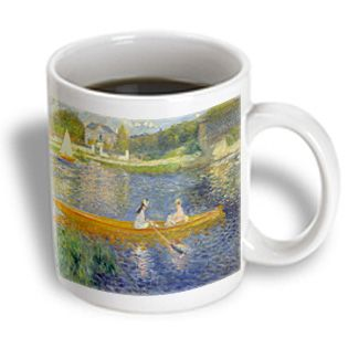 3dRose - Florene Famous Art - Renoirs Impressionist Painting The Skiff - 11 oz mug
