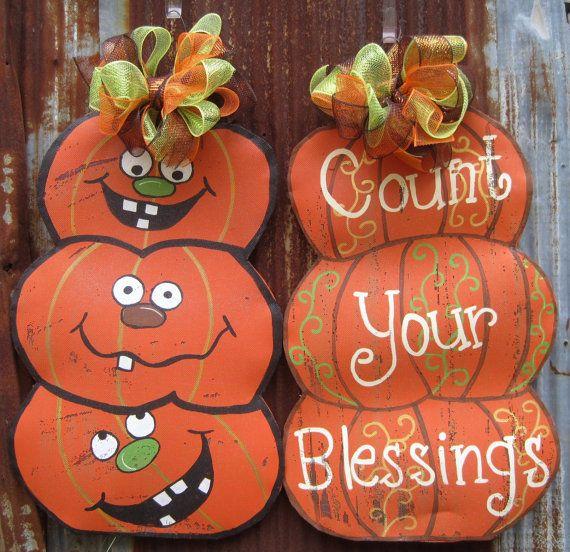 Halloween/Thanksgiving Door Hanger