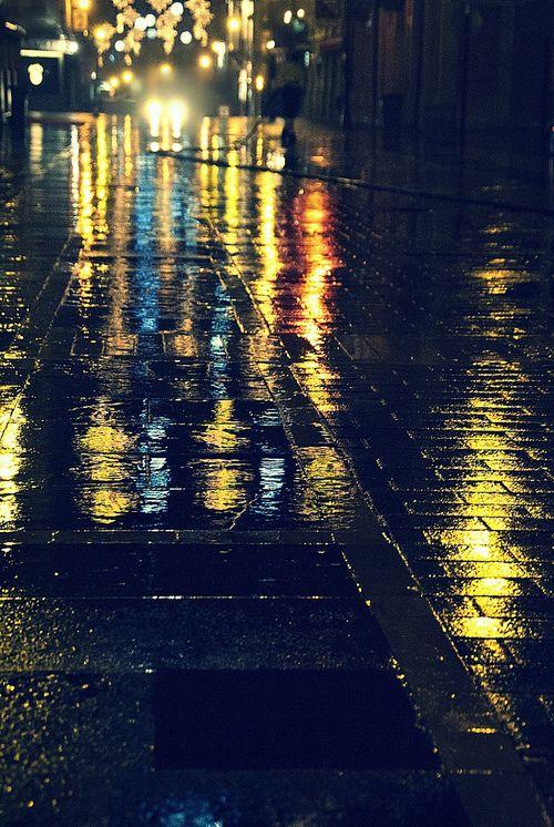 Streets on a rainy night