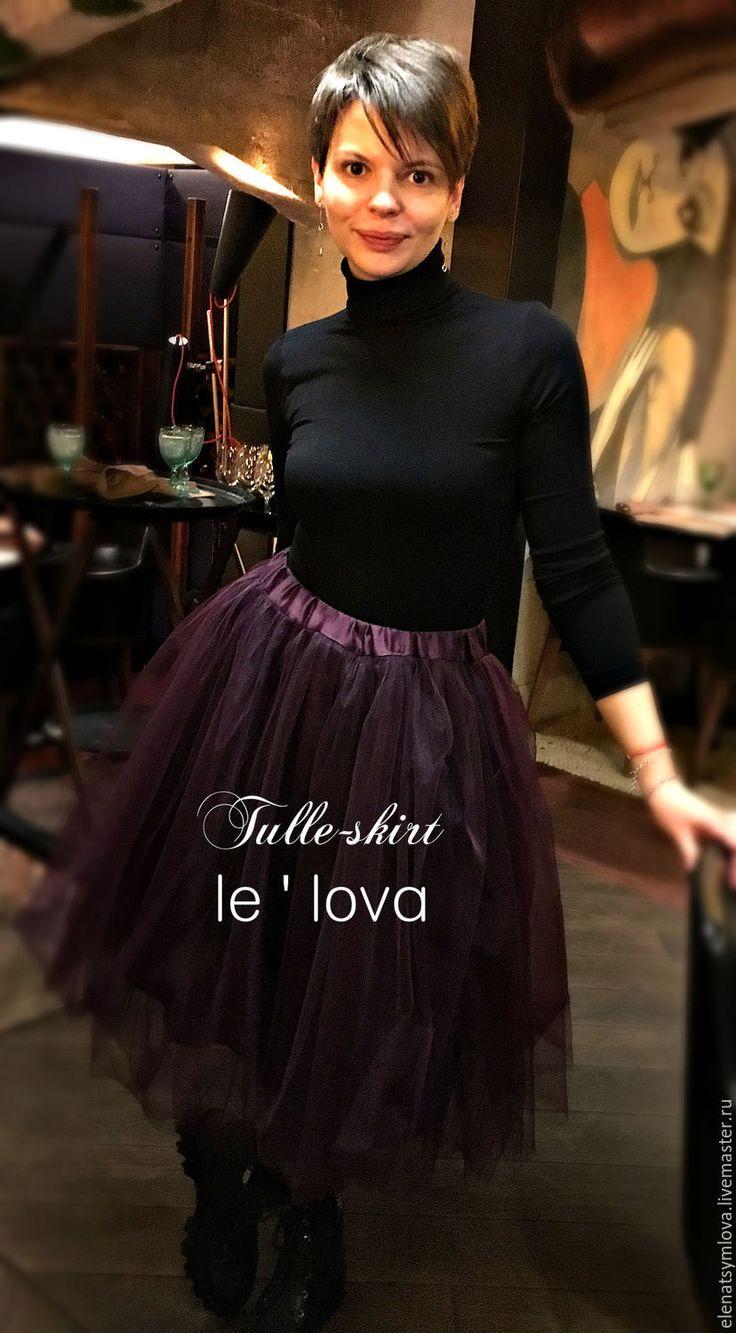 Купить Балетная юбка из фатина - фиолетовый, однотонный, дизайнерская одежда, юбка, юбка из фатина