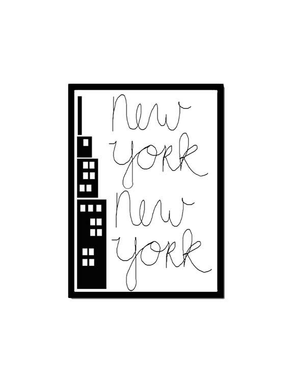 Poster New York door lovefromadam op Etsy https://www.etsy.com/nl/listing/124600517/poster-new-york