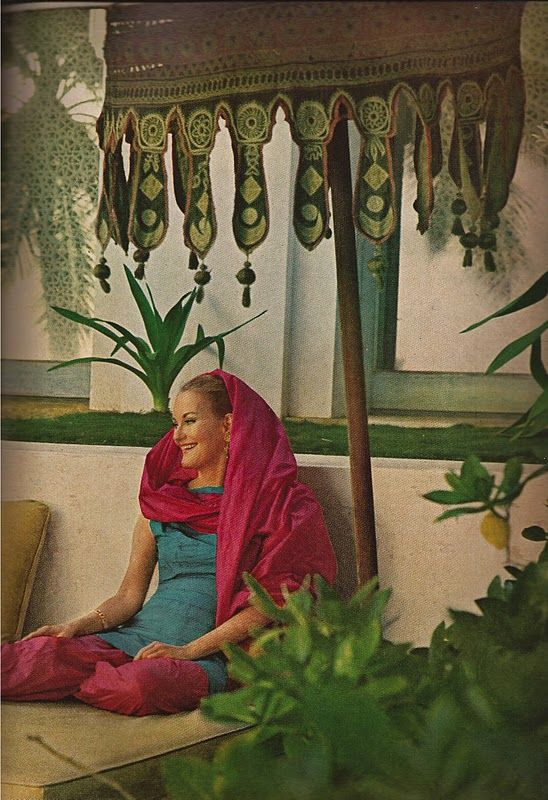 Doris Duke at her Honolulu home known as Shangri La. Photographed by Horst P. Horst, Vogue, November 1, 1966