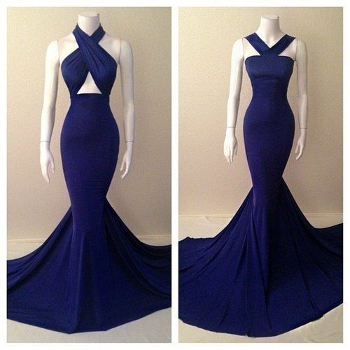 Midnight blue dress. Stunning!