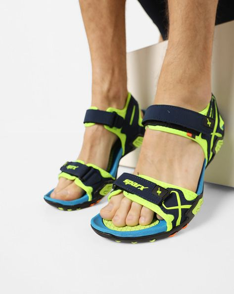 8e8efe451dd237 SPARX Sandals with Velcro Closure  Blue Green Synthetic Sports ...
