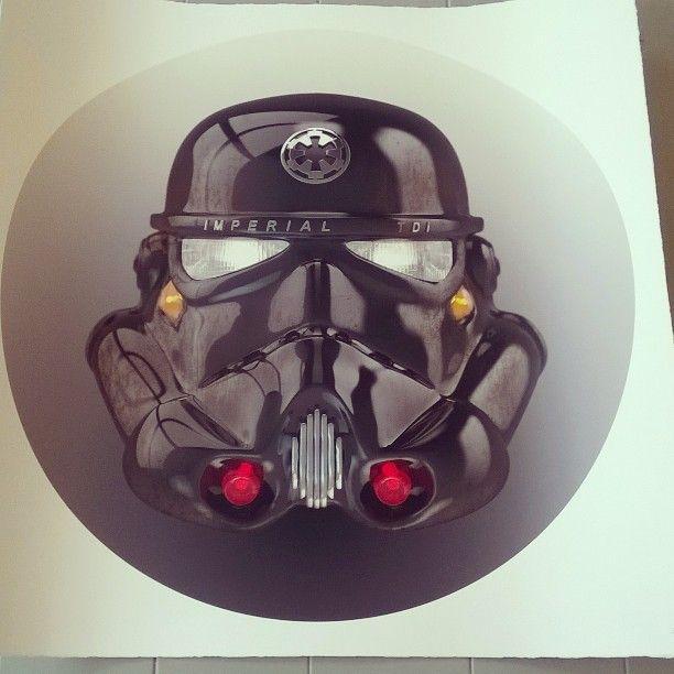 New in! Vroom Trooper by The Strange Case Company #starwars #art #giclee #silkscreen #instaart