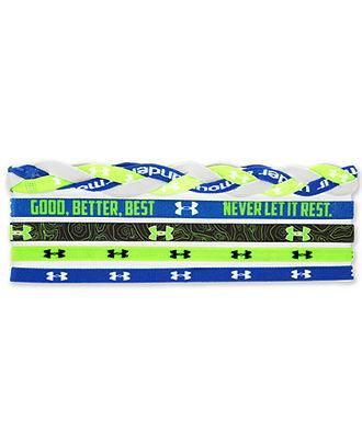 Under Armour headbands. I have this set and there awesome! The little pieces of hair that fall out of your pony tail or any updo will stay back if you where these headbands.