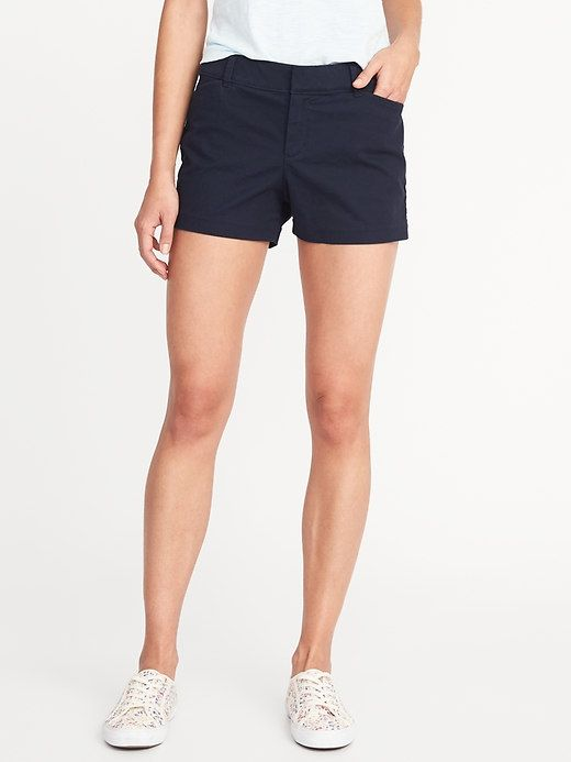 e4ff4b397f82c Pixie Chino Shorts For Women - 3.5 inch inseam | Wearable | Chino shorts,  Shorts, Navy chinos