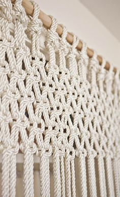 DIY macrame curtain or wall hanging for an easy, handmade accessory for your room.