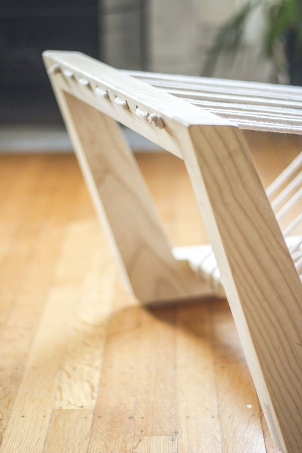 Lounge chair made of ash wood convincing visual lightness