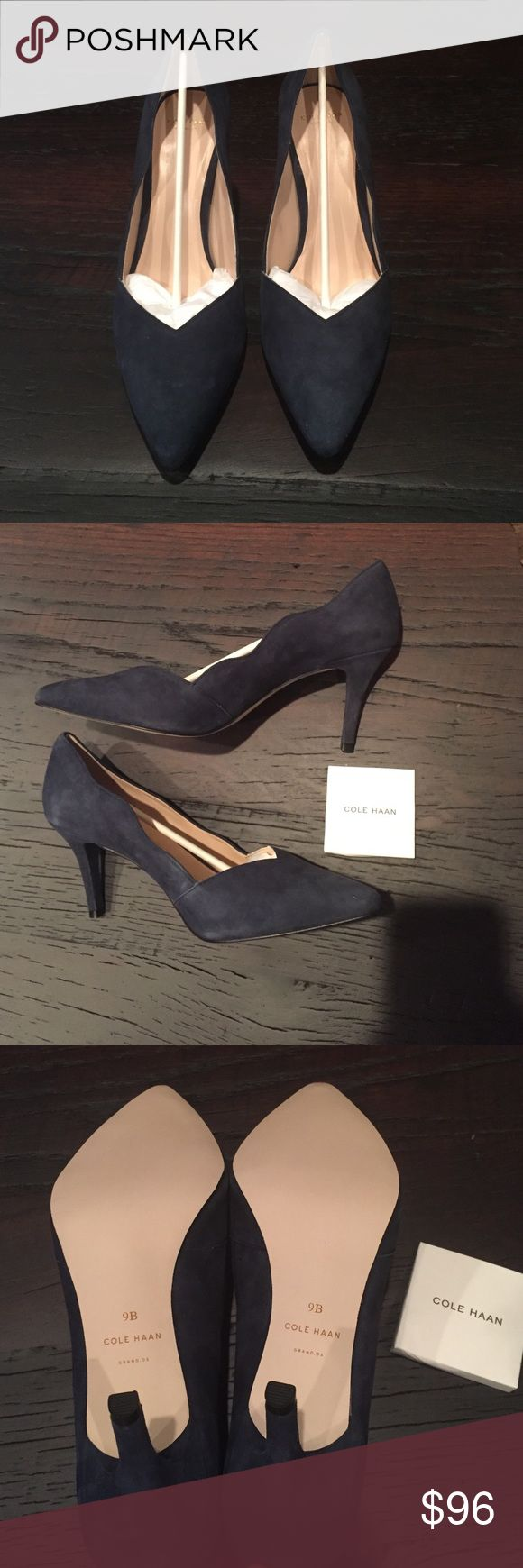 Cole Haan Lucille Pump Never worn! Size 9B. Color India Ink Cole Haan Shoes Heels