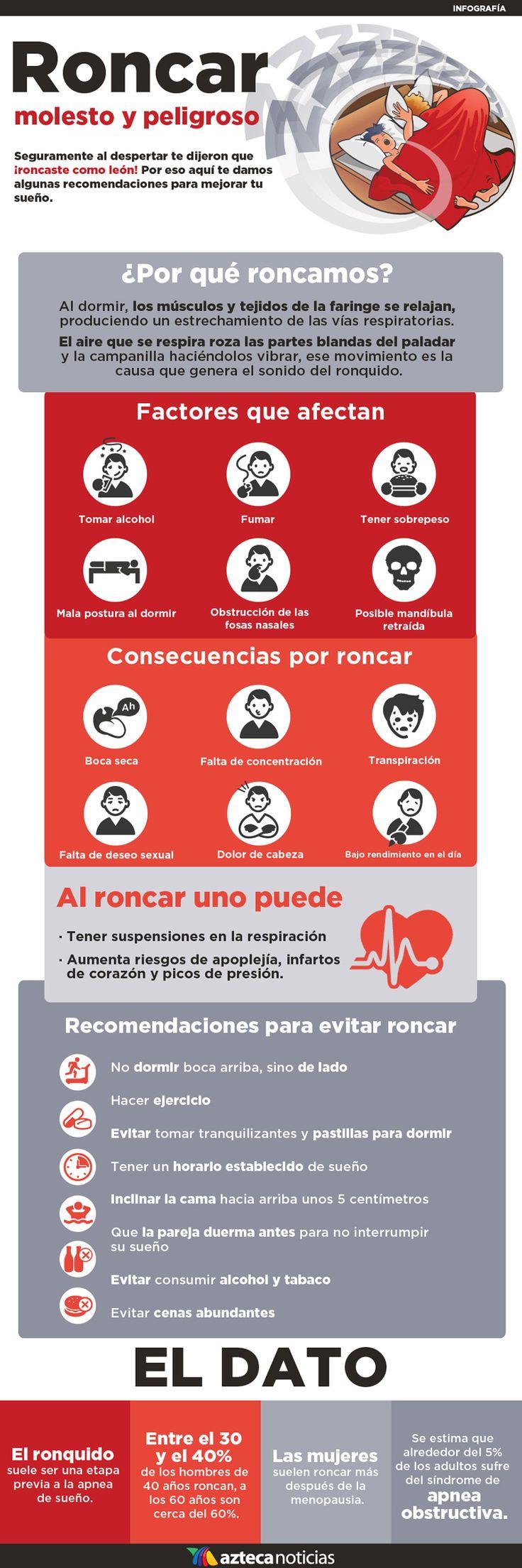 Roncar zzz molesto y peligroso #infografia