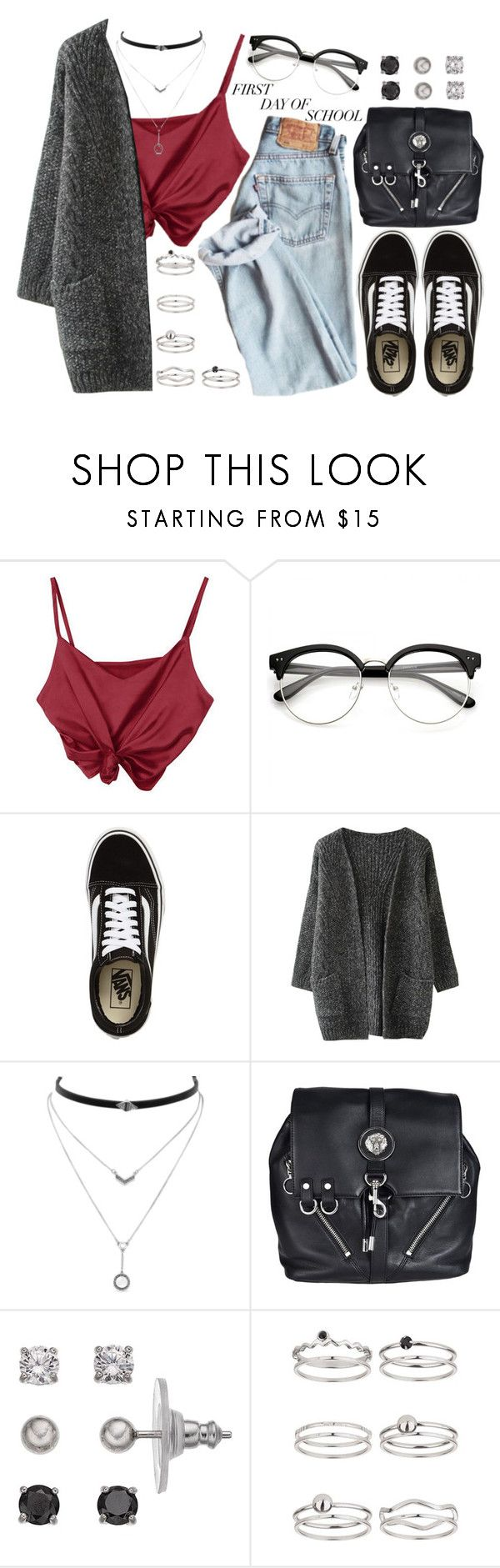 """1366."" by asoul4 ❤ liked on Polyvore featuring Vans, Jessica Simpson, Versus, Primrose, Miss Selfridge and BackToSchool"