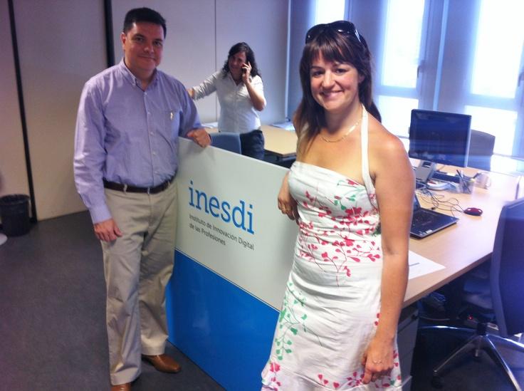 #Oficina #Barcelona con nuestro #Director Académico @Pedro Rojas y la profesora @Eva Romeu.