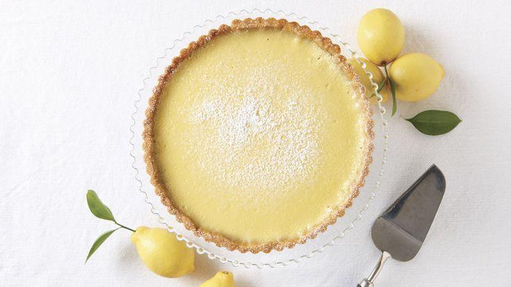 Lemon Tart with Walnut Crust - Recipe - FineCooking