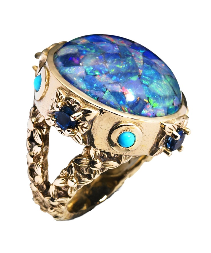 Stephen Dweck Opal and Bronze Ring | Jewellery by Stephen Dweck | Liberty.co.uk