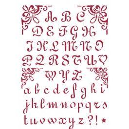 stencil alfabeto calligrafico
