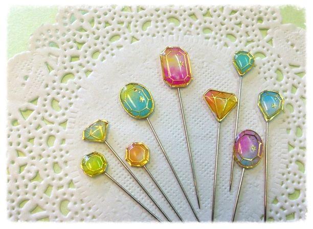 お姫様の Jewelryまち針(ミックスカラー)画像1