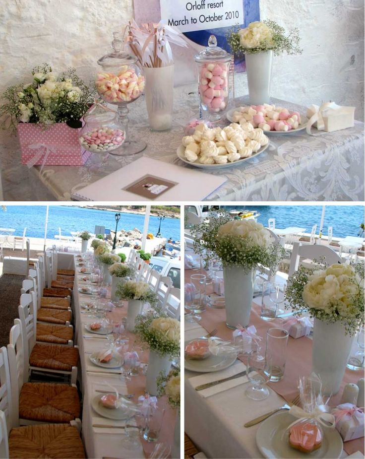 Christening reception decor + dessert table in Spetses (Greece) by Concept Events Planning | www.concept-events.gr