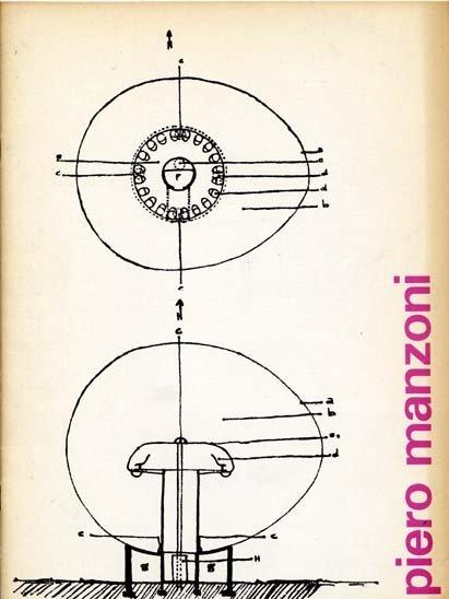 """""""Piero Manzoni"""" Exhibition Catalog, Cat Nr.474, Stedelijk Museum, Amsterdam., Designed by Wim Crouwel & Jolijn van de Wouw, 1970"""