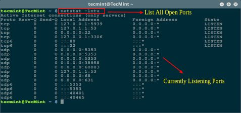 How to Find Out List of All Open Ports in Linux