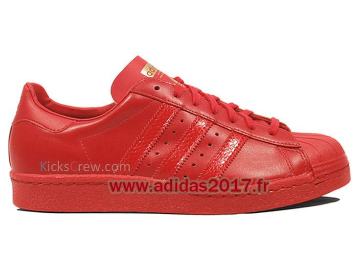 Adidas Superstar boutique rouge