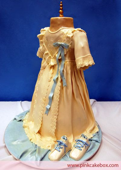 Christening Gown Cake.  So beautiful... not sure I'd want to cut into it. lol