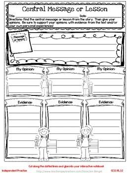 Freebie! This resource includes two grade 3 common core interactive notebook reading lessons, printable student pages, graphic organizers, a reflection on learning printable, and explanations for the lessons!