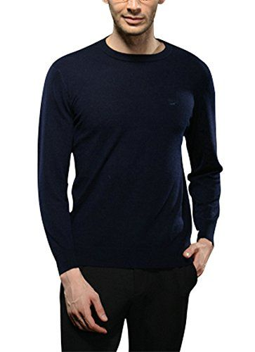 Cashmere Solid Color Crew Neck Slim Fit Sweater