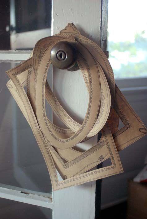 paper frames diy: Paper Frames, Brown Paper, Idea, Kraft Paper, Art, Design Sponge, Picture Frames, Diy Projects