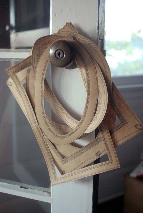 paper frames with ornate details