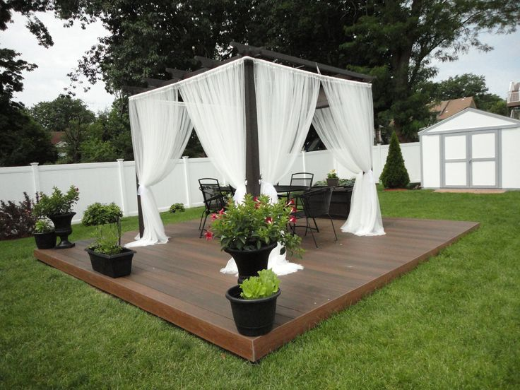 Summer project floating deck made in two weekend pergola from home depot - Ikea pergolas jardin ...