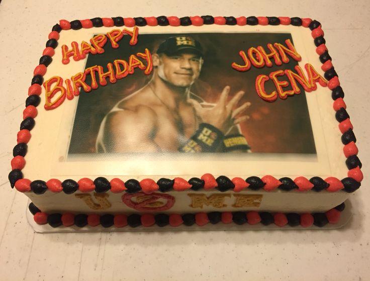 Wwe John Cena Birthday Cake