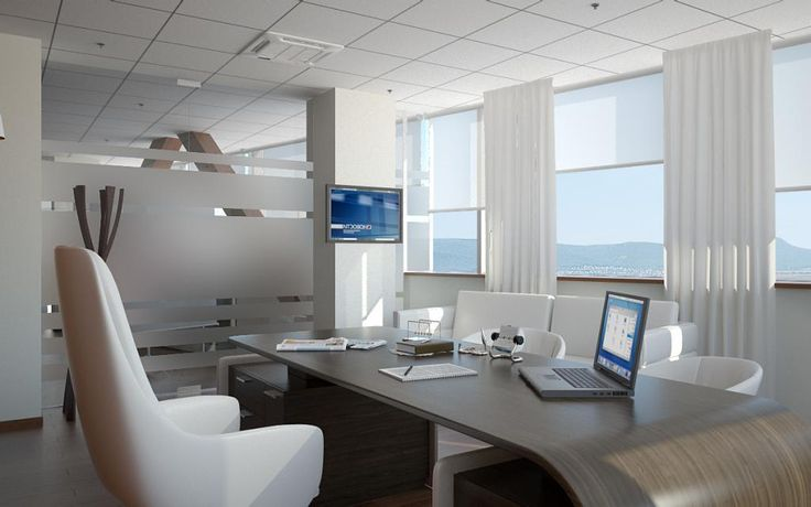 http://taizh.com/wp-content/uploads/2014/11/Delightful-office-design-with-white-curtain-wide-glass-window-as-well-wooden-desk-also-white-chair-and-tv-beside-window.jpg