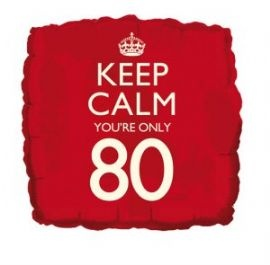 80th Birthday Party decorations | 80th birthday balloon - Keep calm, youre 80 - square helium foil ...